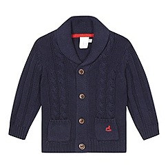 J by Jasper Conran - Designer babies navy cable knit cardigan