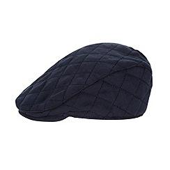 J by Jasper Conran - Designer babies navy quilted flat cap