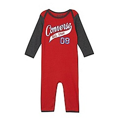 Converse - Babies red 'All Star' sleepsuit