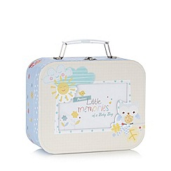 Hallmark - Babies blue patterned memory box