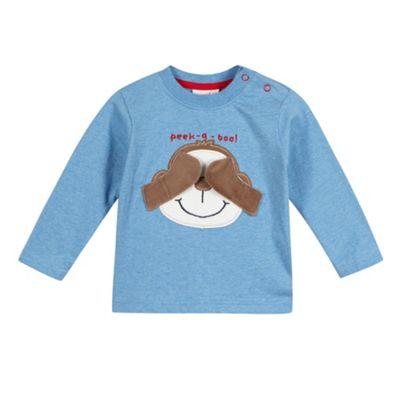 bluezoo Babies blue monkey t-shirt - . -