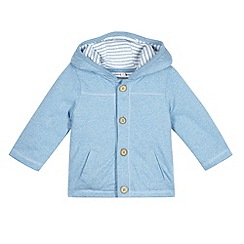 bluezoo - Babies navy cotton hooded jacket