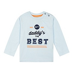 bluezoo - Babies light blue 'daddy's the best' top