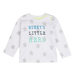 bluezoo - Babies white star printed t-shirt