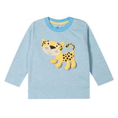 bluezoo Babies blue applique leopard top - . -