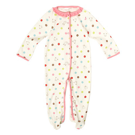 bluezoo - Babies white animal & spot print baby grow