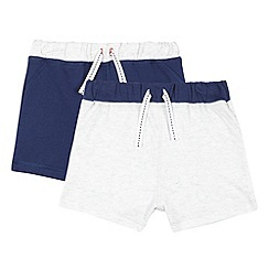 bluezoo - Pack of two babies navy and pale grey sweat shorts