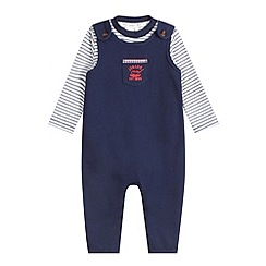 J by Jasper Conran - Designer babies navy striped top and dungarees set