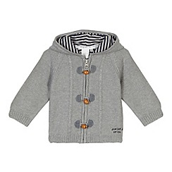 J by Jasper Conran - Designer babies grey hooded cardigan