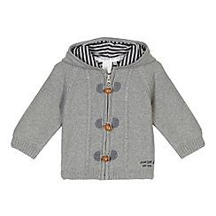 J by Jasper Conran - Designer babies grey hooded cardigan