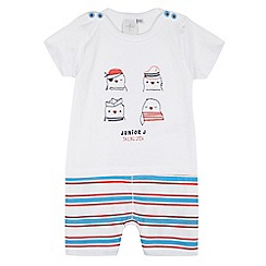 J by Jasper Conran - Designer babies white bird embroidered bibshorts