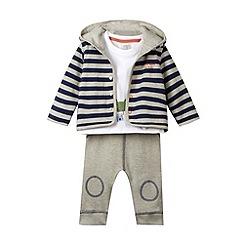 RJR.John Rocha - Designer babies navy striped jacket top and jogging bottoms set