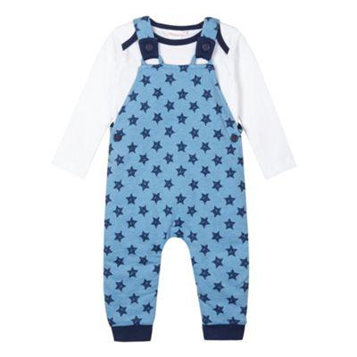 bluezoo Babies blue star dungaree set - . -