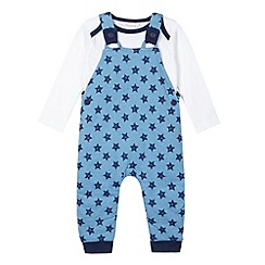 bluezoo - Babies blue star dungaree set