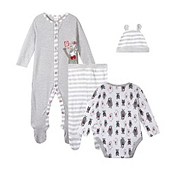 bluezoo - Babies grey polar bear four piece set
