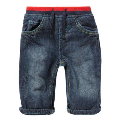 bluezoo Babies blue ribbed waist jeans - . -