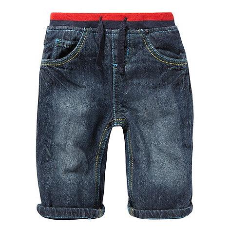 bluezoo - Babies blue ribbed waist jeans