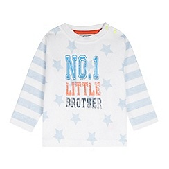 bluezoo - Babies white 'No.1 Little Brother' top