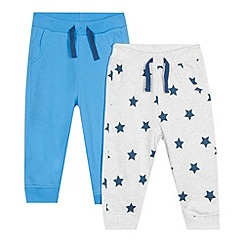 bluezoo - Pack of two babies blue star jogging bottoms