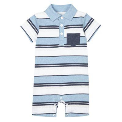 bluezoo Babies blue striped romper suit - . -