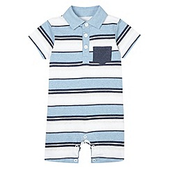 bluezoo - Babies blue striped romper suit