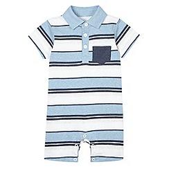 bluezoo - Babies blue striped romper suit