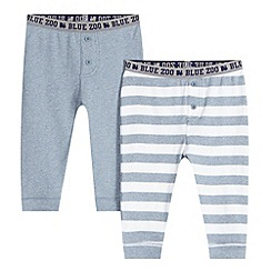 bluezoo - Set of two boy's grey striped long johns