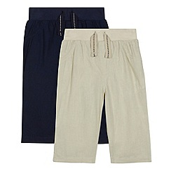 bluezoo - Pack of two babies navy and beige trousers