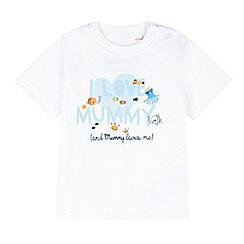bluezoo - Babies white 'I Love Mummy' t-shirt