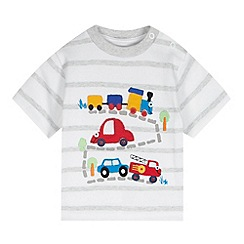 bluezoo - Babies white car applique top