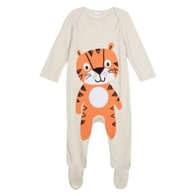bluezoo Babies beige tiger printed sleepsuit - . -