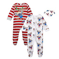 bluezoo - Babies red monkey three piece set