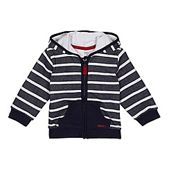 J by Jasper Conran - Designer babies navy striped sweat hoodie