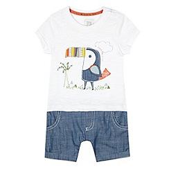 RJR.John Rocha - Designer babies white toucan romper suit