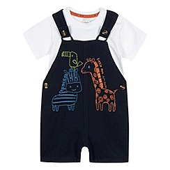 RJR.John Rocha - Designer babies navy dungaree and t-shirt set