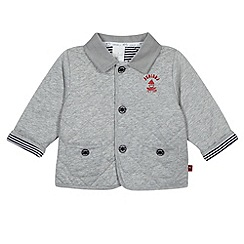 J by Jasper Conran - Designer babies grey quilted sweat jacket