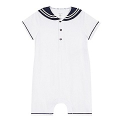 J by Jasper Conran - Designer babies white sailor romper suit