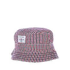 J by Jasper Conran - Designer red boys gingham fisherman hat