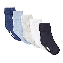 bluezoo - Pack of five babies navy roll socks