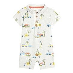 RJR.John Rocha - Designer babies grey van print polo romper suit