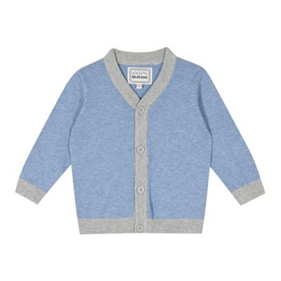 bluezoo Babies blue tipped cardigan - . -