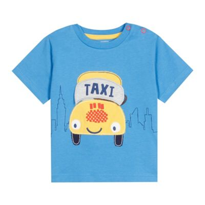 bluezoo Babies blue taxi applique t-shirt - . -