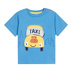 bluezoo - Babies blue taxi applique t-shirt