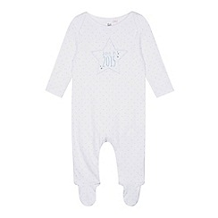 bluezoo - Babies white 'Born in 2015' sleepsuit