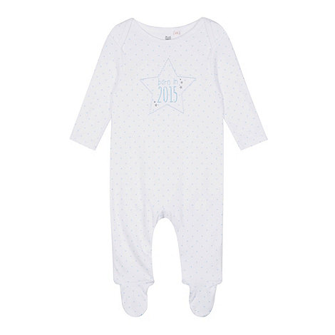 bluezoo - Babies white +Born in 2015+ sleepsuit