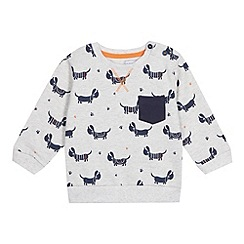 bluezoo - Babies grey dog printed sweat top