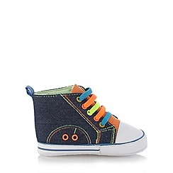 bluezoo - Babies navy denim coloured laces shoes