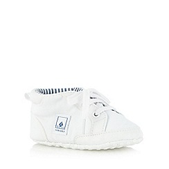 J by Jasper Conran - Designer babies white lace up booties