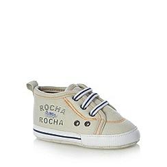 RJR.John Rocha - Designer babies beige canvas booties