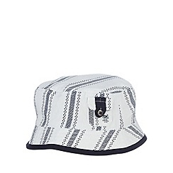 J by Jasper Conran - Designer babies navy ticking striped bucket hat
